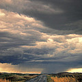 Approaching Storm On Country Road by Jill Battaglia