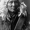 Apsaroke Indian Man Circa 1908 by Aged Pixel