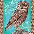 Aqua Barn Owl by Debbie DeWitt