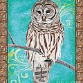 Aqua Barred Owl by Debbie DeWitt