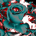 Aqua Rose - Abstract by Louise Grant