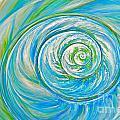 Aqua Seashell by Paola Correa de Albury