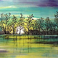 Aqua Sunset by Jean Plout