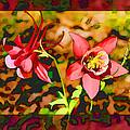 Aqualigia Floral 11x14 by Bonnie Willis