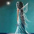 Aquamarine Fairy By Shawna Erback by Shawna Erback