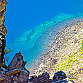 Aquamarine Shoreline At North Junction Of Crater Lake In Crater Lake National Park-oregon by Ruth Hager