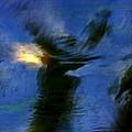 Aquarelle  Blue #1 by Dan Ticulescu