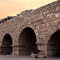 Aqueduct At Caesarea   by David T Wilkinson