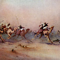 Arab Riders Spur Their Camels by Mary Evans Picture Library