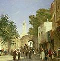 Arab Street Scene by Honore Boze