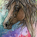 Arabian Horse And Burst Of Colors by Angel Ciesniarska