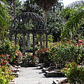 Arbor In The Rose Garden by Christiane Schulze Art And Photography