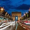Arc De Triomphe At Dusk Paris by Charles Bowman