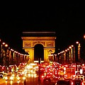 Arc De Triomphe At Night by John Malone