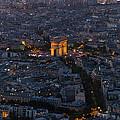 Arc De Triomphe From Above by Maj Seda