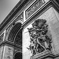 Arc De Triomphe In Black And White by Jennifer Ancker
