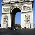 Arc De Triomphe In Paris France by Richard Rosenshein