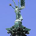 Archangel Gabriel Statue In Budapest by Artur Bogacki
