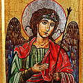 Archangel Michael Icon by Ryszard Sleczka