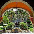 Arched Courtyard by Denise Mazzocco