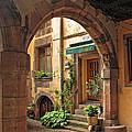 Arched Doorway In Kayserberg by Dave Mills