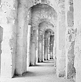 Arched Walkway At Entrance Of The Old Roman Colloseum At El Jem Tunisia by Joe Fox
