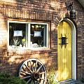Arched Yellow Door by Timothy Hacker