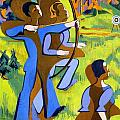 Archery by Ernst Ludwig Kirchner