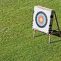 Archery Round Target On A Stand by Artur Bogacki