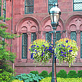 Arches And Potted Plants by Barbara McDevitt