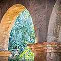 Arches At Mission San Juan Capistrano by Richard Cheski