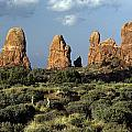 Arches National Park Sunrise Rock Formations  by Jim Corwin
