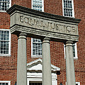 Architectural Columns With Equal Justice by Donna Haggerty