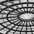 Architecture Ceiling In Black And White by Leah Palmer