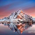 Arctic Dawn Over Reine Village by Janet Burdon