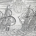Arctic Phenomena From Gerrit De Veer S Description Of His Voyages Amsterdam 1600 by Netherlandish School