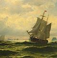 Arctic Whalers Homeward Bound by William Bradford