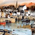 Ardglass Harbour County Down by Val Byrne
