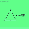 Area Of An Isosceles Triangle Green/black by Paulette B Wright