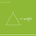 Area Of An Isosceles Triangle Lime/white by Paulette B Wright