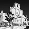Arecibo Church And Plaza B W 2 by Ricardo J Ruiz de Porras