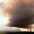 Ariel View Of Burning Sugar Cane Fields by Ron Koeberer