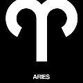 Aries Zodiac Sign White by Naxart Studio