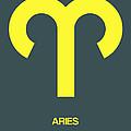 Aries Zodiac Sign Yellow by Naxart Studio