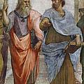 Aristotle And Plato Detail Of School Of Athens by Raffaello Sanzio of Urbino