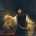 Aristotle With Bust Of Homer by Pg Reproductions