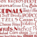 Arizona Cardinals Game Day Food 1 by Andee Design