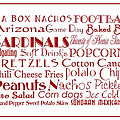 Arizona Cardinals Game Day Food 3 by Andee Design