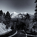 Arizona Country Road In Black And White by Joshua House