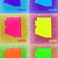 Arizona Pop Art Map 4 by Naxart Studio